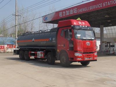 国五解放前四后六腐蚀性物品罐式运输车